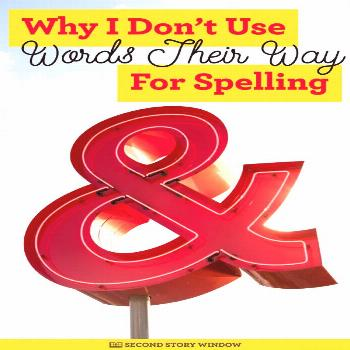 I love Words Their Way. It's a great word sorting and word study program! But I don't use it as my
