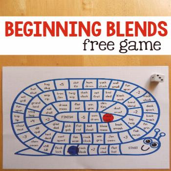 If you need a beginning blends activity, try teaching beginning blends with this free game for kind