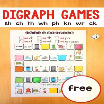 If you're doing digraph activities with your learners, try these free digraph games! Use them in ki
