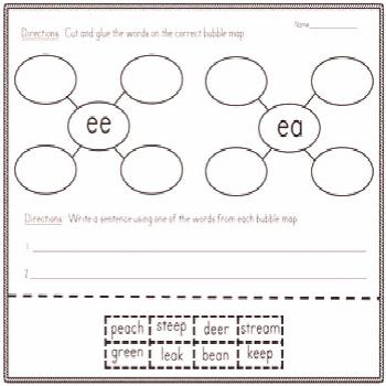 Introduce graphic organizers while simultaneously teaching and reviewing short and long vowel sound