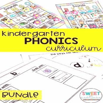 Kindergarten Phonics Curriculum YEARLONG BUNDLE All the phonics instruction and plans you need to t