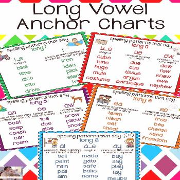 Long Vowel Anchor Charts Here are cute and helpful long vowel anchor charts that will help your stu