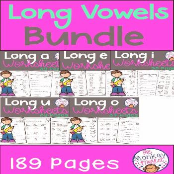 Long Vowel Worksheets This Long Vowel Worksheet Bundle is great for your students to practice their