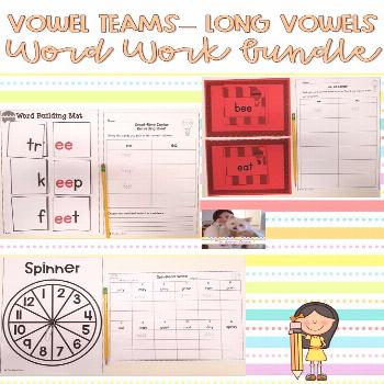 Long Vowels Vowel Teams Bundle Save money by buying this bundle! These hands-on and long vowels wit