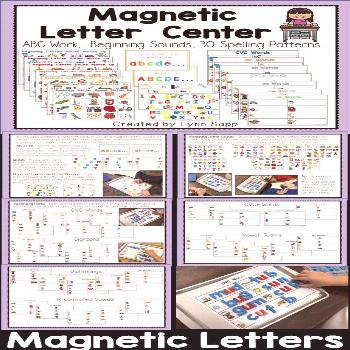 Magnetic Letter Center Everything you need for students to practice abc order, upper and lowercase