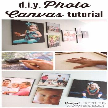 MUST PIN! Best DIY Photo Canvas tutorial out there! Learn the secret to creating REAL canvas textur
