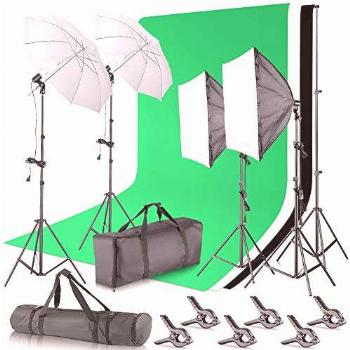 Neewer 2.6M x 3M/8.5ft x 10ft Background Support System and