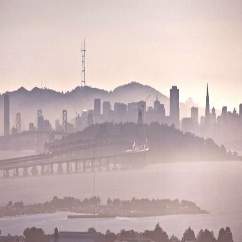 (one step back)san francisco and treasure island as seen from berkeley -
