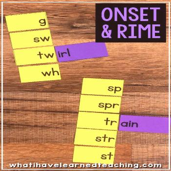 Onset and Rime Matching Cards, Flip Books  Word Lists • What I Have Learned Teaching children tha