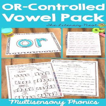 Orton-Gillingham Phonics Multisensory Activities R-Controlled Vowels OR Using a multisensory approa