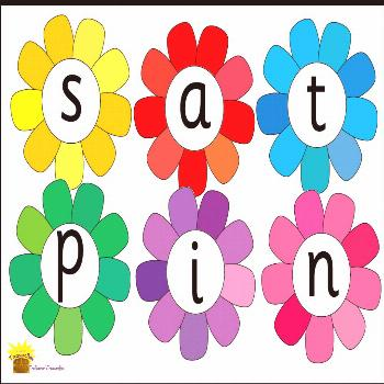 Phase 2 Phonics Display Flashcards Phase 2 phonics on flowers. Can be used as flashcards or for dis