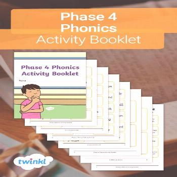 Phase 4 Phonics Activity Booklet!  Use this fabulous Phase 4 Phonics Activity Booklet, for phonics