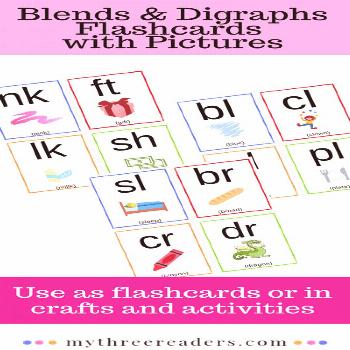 Phonics Blends & Digraph Flashcards with Pictures The perfect tool for practicing phonics blends an