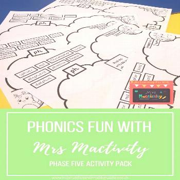 Phonics Fun with Mrs Mactivity: Phase Five Activity Pack Do you have a child in Year One? Are you h