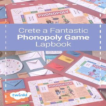 Phonics Games - Create a Phonopoly Game Lapbook!  Help your children learn Phase 2 phonics in a fun