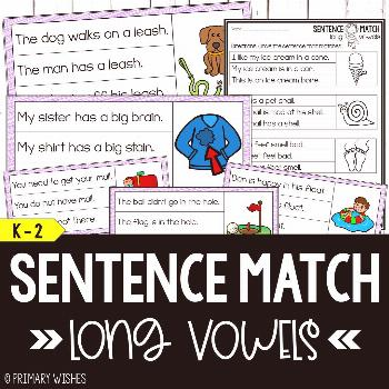 Phonics - Long Vowel Sentence Match  A great way for students to practice reading fluency and decod