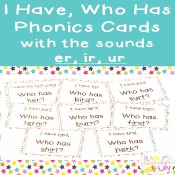 Phonics practice is fun and engaging when playing the game I Have, Who Has. Stud... -