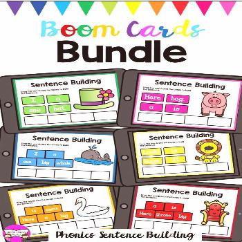 Phonics Sentence Building Boom Cards Big Bundle These Boom Cards are exactly what you need for dist