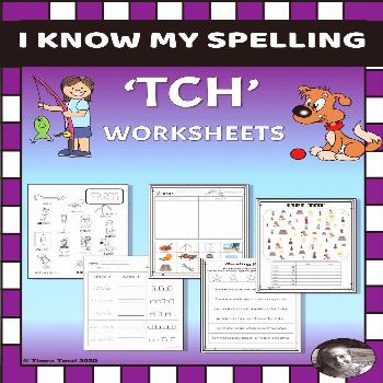 Phonics Worksheets and Activities -- 'TCH' You can find the following worksheets/activities and gam