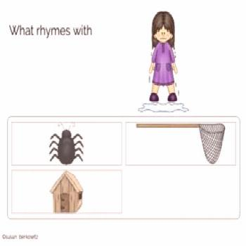 Phonological Awareness Skills Rhyming BOOM Cards distance learning speech Support students as they