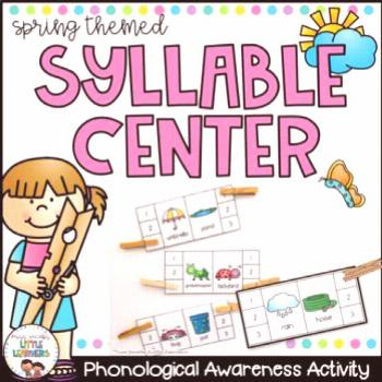 Phonological Awareness: Syllable Center Game by Miss Jacobs' Little Learners