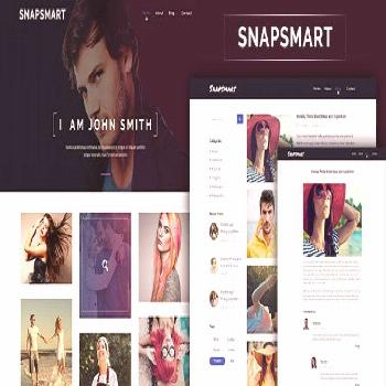 Photog - Portfolio PSD Template  ⠀  Snapsmart is a modern, pixel-perfect, easy-to-use and creativ