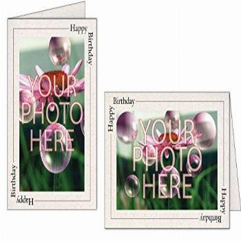 Photographer's Edge, Photo Insert Card, Natural with Happy