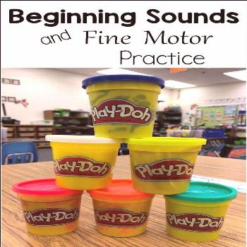 Play-Doh Stamps Perfect to practice beginning sounds and build fine motor muscles at the same time!