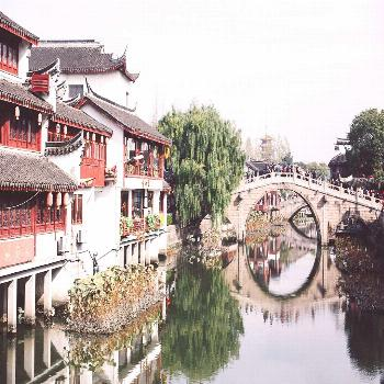 QUIBAOancient chinese watertown in the minhang district -