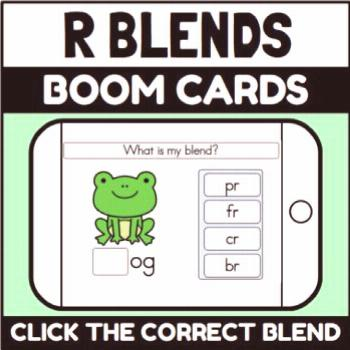 R Blends Boom Cards (Distance Learning) R Blends Boom Cards (Distance Learning) - click the correct