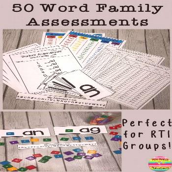 RTI Word Family Assessments Teaching word families and have no idea how to assess them?  With this