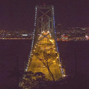 San francisco bay bridge andcitylights. saying goodbye to the city on a crisp and clear sprin...