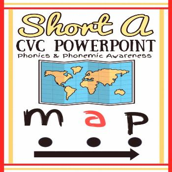 Short A CVC Powerpoint Develop your student's phonics and phonemic awareness with this short a CVC