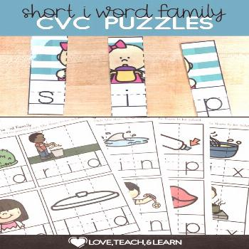 Short i CVC Games : CVC Puzzles Here is a fun word work activity to practice sounding out letters.