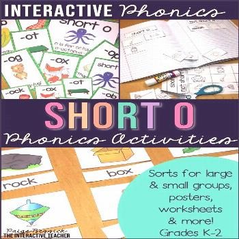 Short o Word Work Activities-Sorts and Worksheets Interactive Phonics and Work Work-short o workshe