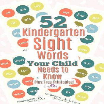 Sight Words for Kindergarten That Kids Need to Know · Pint-sized Treasures Sight Words for Kinderg