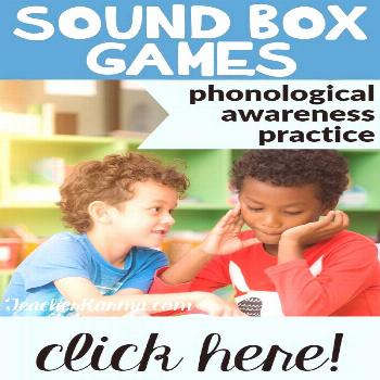 Sound Boxes, Phonemic Awareness, Blend & Segment Sounds, Phonemes Sound Box activities and games wi