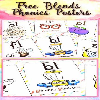 Sound Charts & Chants for Blends Freebie These free blends phonics posters can easily be used for a