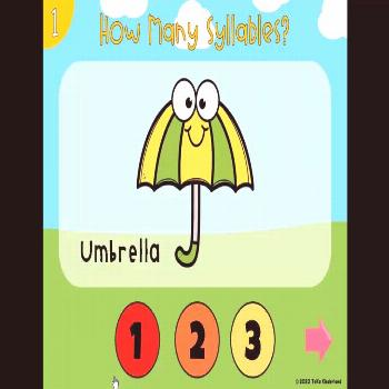 Spring Syllables PowerPoint Game April Syllables Activities. This game is designed to help preschoo
