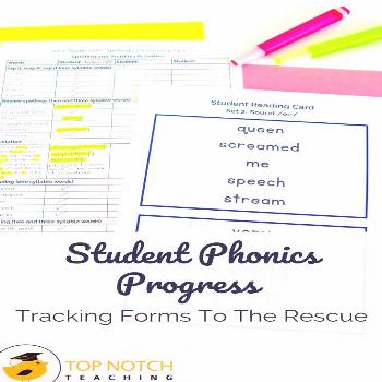 Student Phonics Progress Tracking Forms To The Rescue You can have the most creative and engaging a