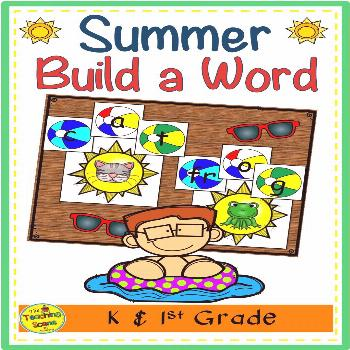 Summer Themed Build a Short Vowel Word  Do you need a summer build a word literacy and phonics acti