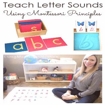 Teach Letter Sounds to Your Child Using Montessori Principles It's easy for you to teach letter sou