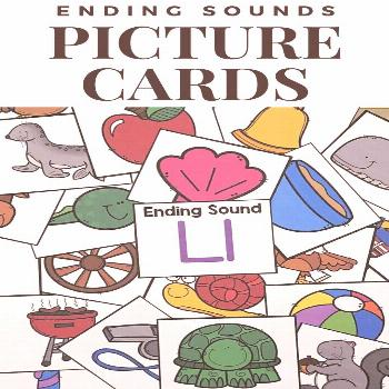These 288 Ending Sounds Picture Cards are perfect for introducing, teaching, and reinforcing final