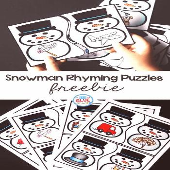 These SnowmanRhyming Puzzleshelp ourpreschool and kindergarten students build theirphonological awa