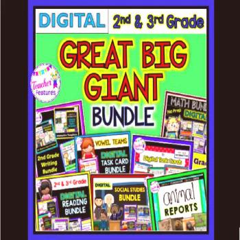 This digital bundle includes 607 slides of reading, math, word work, social studies and writing res