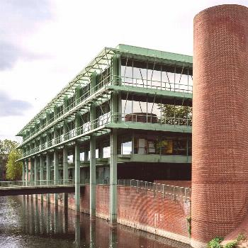 Town Hall and Cultural Center (1971-77) in Bocholt, Germany, by Gottfried Böhm -