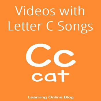 Videos with Letter C Songs These fun videos with letter c songs teach children letter recognitions,