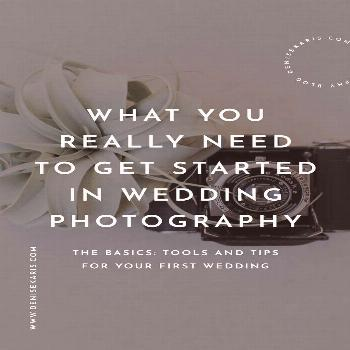 What you really need to get started in wedding photography. From gear to first day tips, Ive outlin