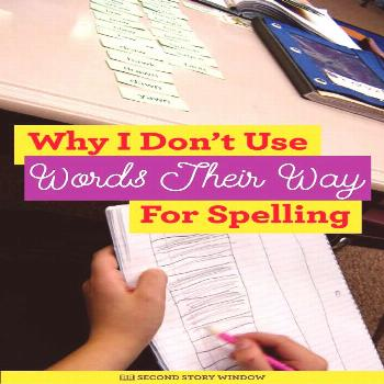 Why I Don't Use Words Their Way for Spelling I love Words Their Way. It's a great word sorting and