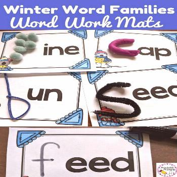 Winter Word Family Mats Word Work Center Winter word work centers have never been made easier. Prin